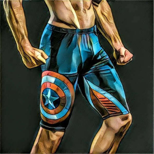 MEN SUPERHERO COMPRESSION SHORTS