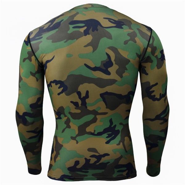ARMY CAMOUFLAGE Compression Shirt for Men (Long Sleeve)