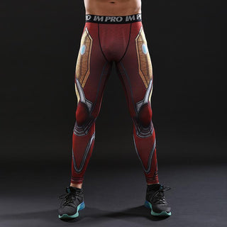 Avengers 3 IRON MAN Compression Leggings for Men