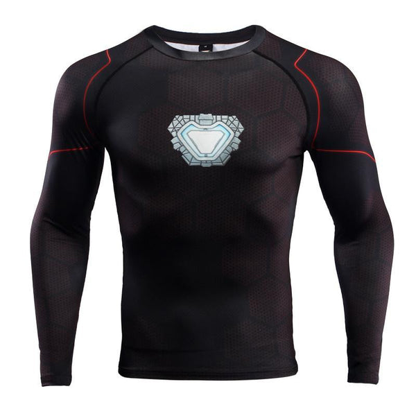 Avengers 3 IRON MAN Long Sleeve Compression Shirt for Men