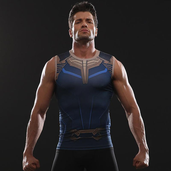 Avengers 3 THANOS Compression Tank Top for Men