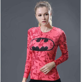 BATMAN Long Sleeve Compression Shirt for Women