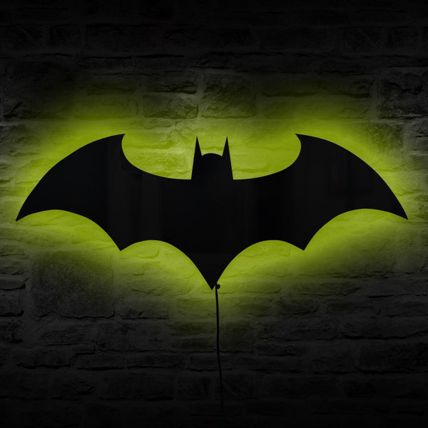 Batman remote controlled led wall lightmirror i am superhero batman remote controlled led wall lightmirror aloadofball Choice Image