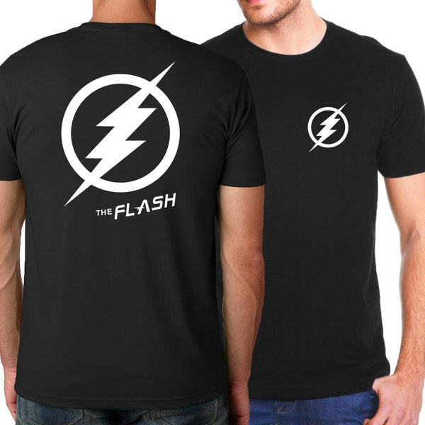 Black FLASH Logo Short Sleeve T-Shirt for Men