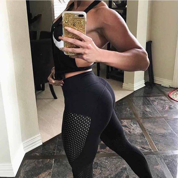 Black Mesh Leggings for Women