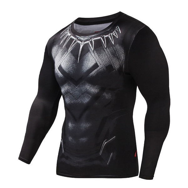 BLACK PANTHER Compression Shirt for Men (Long Sleeve)