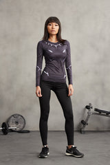 BLACK PANTHER Compression Shirt for Women (Long Sleeve)