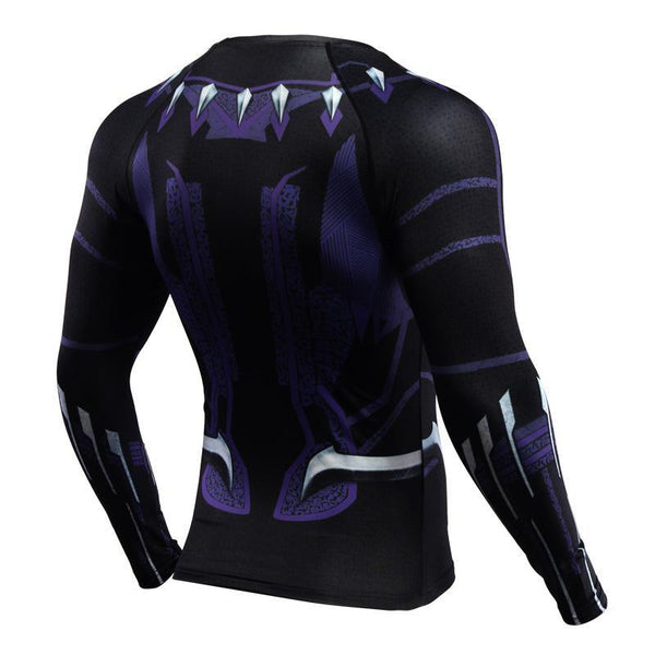 BLACK PANTHER Long Sleeve Compression Shirt for Men
