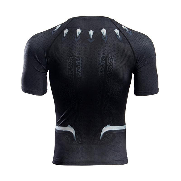 BLACK PANTHER Short Sleeve Compression Shirt for Men