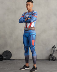 CAPTAIN AMERICA Compression Leggings/Pants for Men