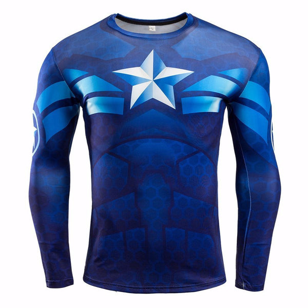 CAPTAIN AMERICA Compression Shirt for Men (Long Sleeve)