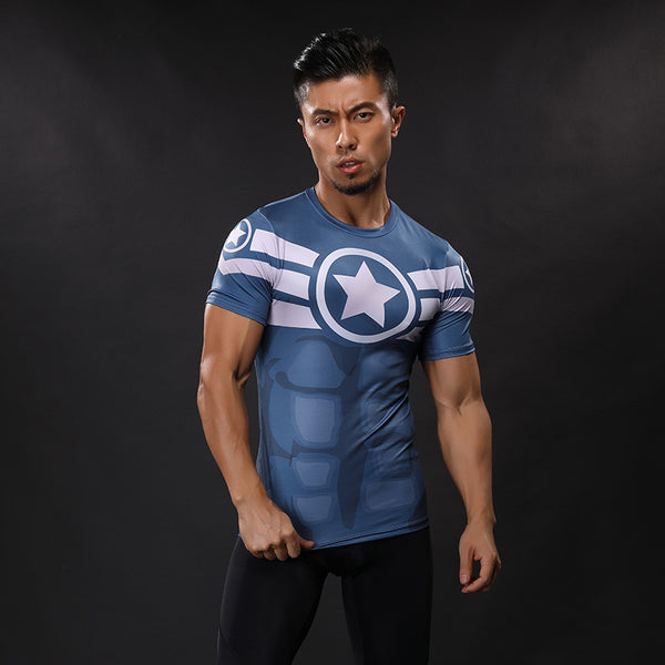 CAPTAIN AMERICA Compression Shirt for Men (Short Sleeve)