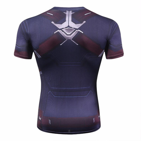 CAPTAIN AMERICA Compression Short Sleeve Shirt for Men