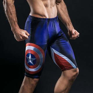 CAPTAIN AMERICA Compression Shorts for Men