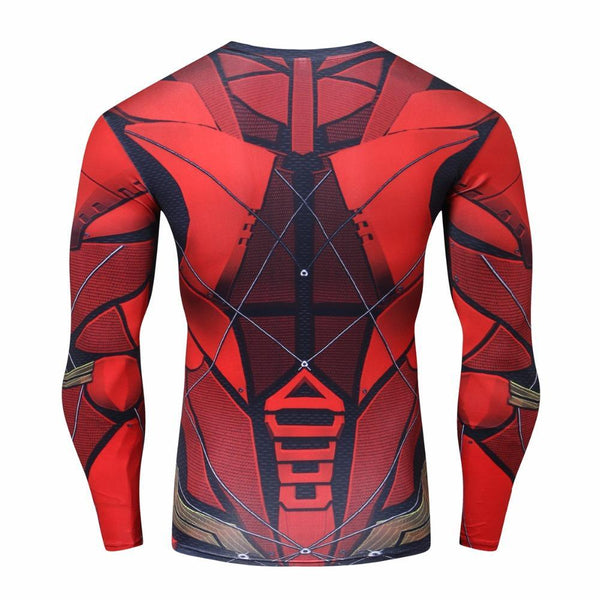 Comic FLASH Long Sleeve Compression Shirt for Men