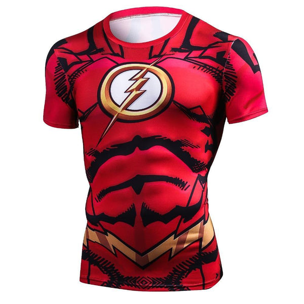 Comic FLASH Short Sleeve Compression Shirt for Men