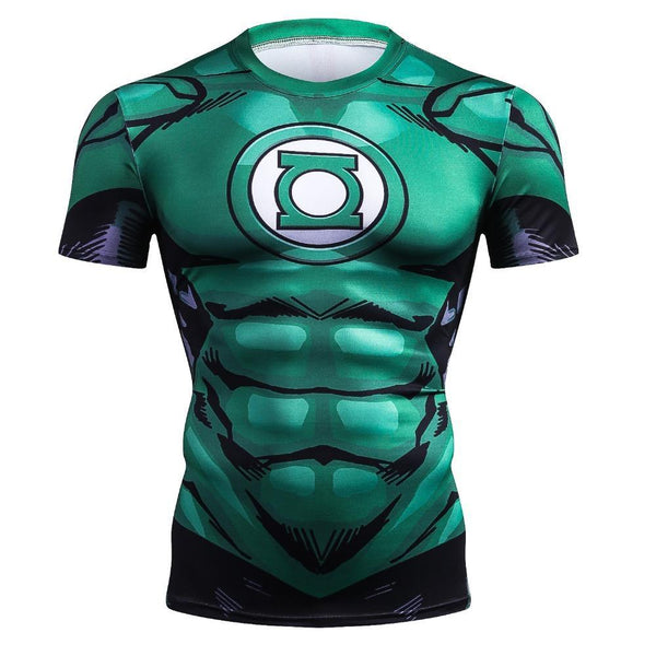 Comic GREEN LANTERN Short Sleeve Compression Shirt for Men