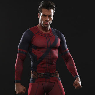 Deadpool 2 Long Sleeve Compression Shirt for Men