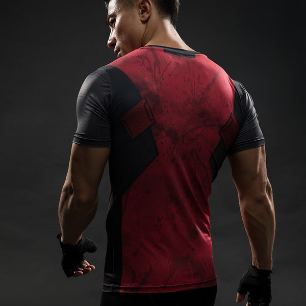 DEADPOOL Compression Shirt for Men (Short Sleeve)
