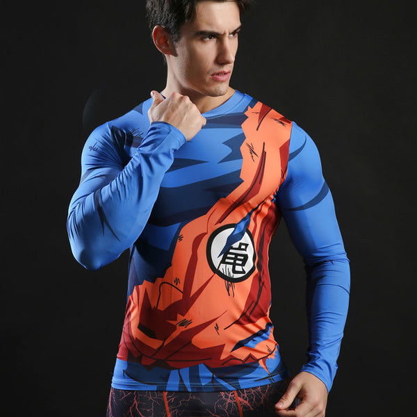 DRAGON BALL Compression Shirt for Men (Long Sleeve)