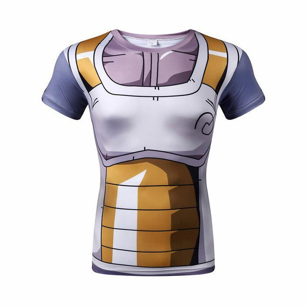 DRAGON BALL Z Short Sleeve Compression Shirt for Men