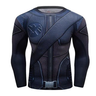 GREEN ARROW Long Sleeve Compression Shirt for Men