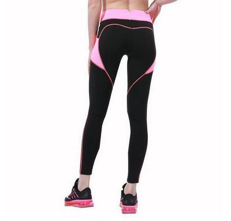 Heart Pattern Yoga Leggings for Women with Pocket