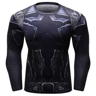 Infinity War Captain America Long Sleeve Compression Shirt for Men
