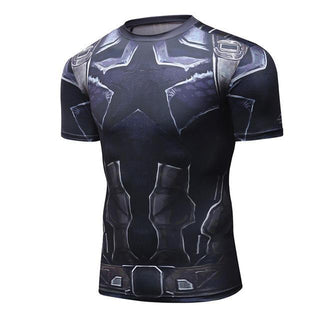 Infinity War CAPTAIN AMERICA Short Sleeve Compression Shirt for Men