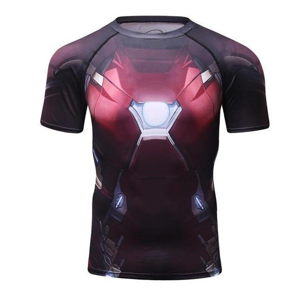 Infinity War IRON MAN Compression Shirt for Men