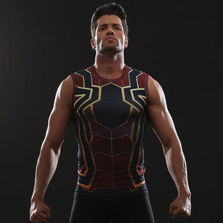 Infinity War SPIDERMAN Compression Tank Top for Men