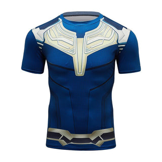 Infinity War THANOS Short Sleeve Compression Shirt for Men