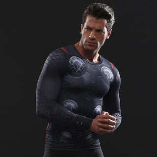 Infinity War THOR Long Sleeve Compression Shirt for Men