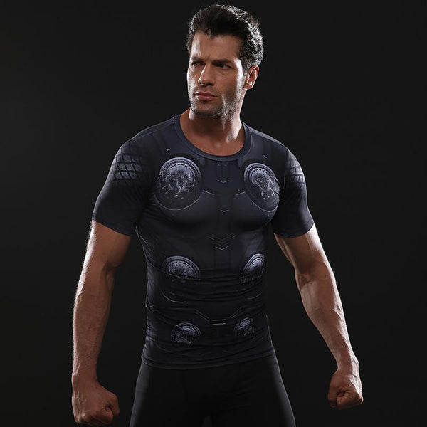 Infinity War THOR Short Sleeve Compression Shirt for Men
