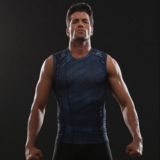 879fd2d198bb7 Infinity War WINTER SOLDIER Compression Tank Top for Men
