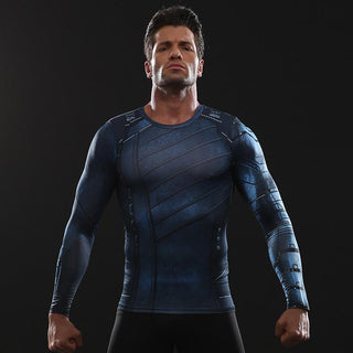 Infinity War WINTER SOLDIER Long Sleeve Compression Shirt for Men