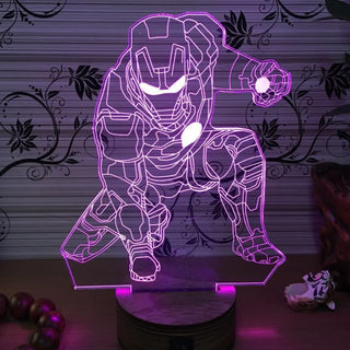 IRON MAN 3D Color Changing Night Lamp