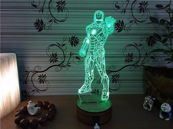 ... IRON MAN 3D Color Changing Night Lamp ...