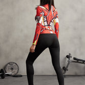IRON MAN Compression Shirt for Women (Long Sleeve)