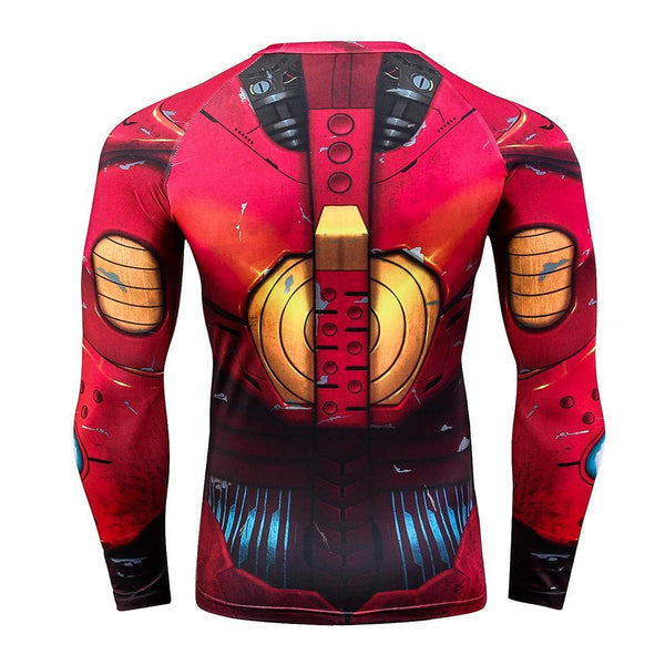 IRON MAN Long Sleeve Compression Shirt for Men