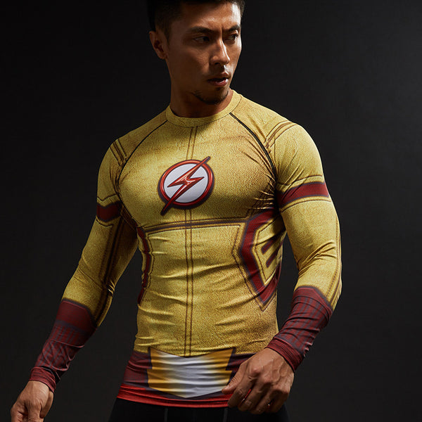 KID FLASH Compression Shirt for Men (Long Sleeve)