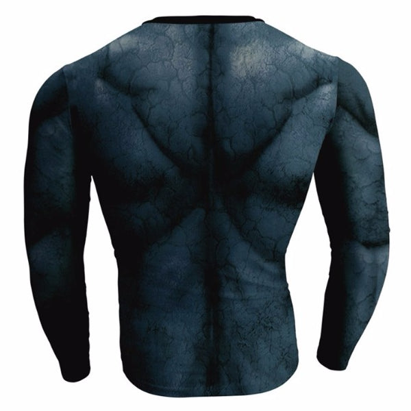 Long Sleeve HULK Compression Shirt for Men