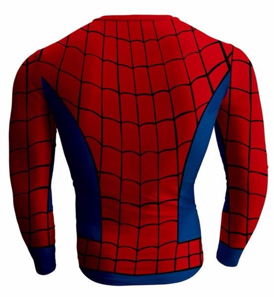 Long  Sleeve SPIDERMAN Compression Shirt for Men