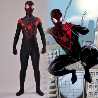 Miles Morales  SPIDERMAN Cosplay Costume for Men