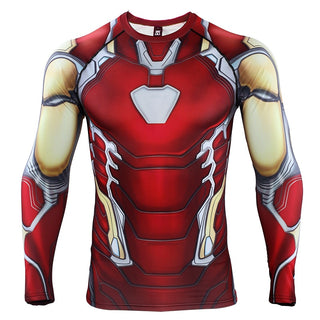 4f227216a Avengers 4 IRON MAN Long Sleeve Compression Shirt
