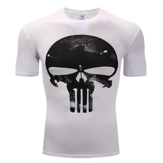 PUNISHER Compression Shirt for Men (Short Sleeve)