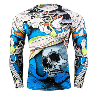 PUNISHER Long Sleeve Compression Shirt for Men