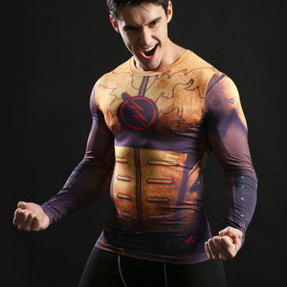 REVERSE FLASH Compression Shirt for Men (Long Sleeve)