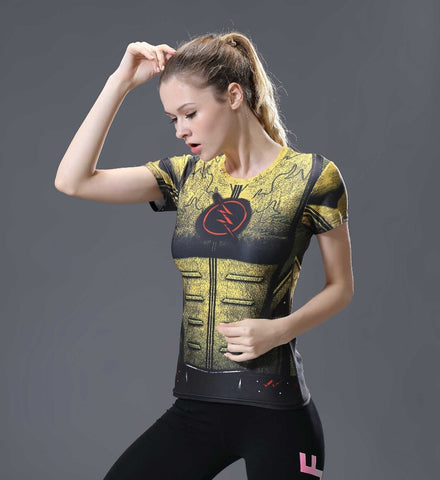 REVERSE FLASH Compression Shirt for Women (Short Sleeve)