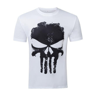 Short Sleeve PUNISHER T-Shirt for Men (Blue/White/Black)